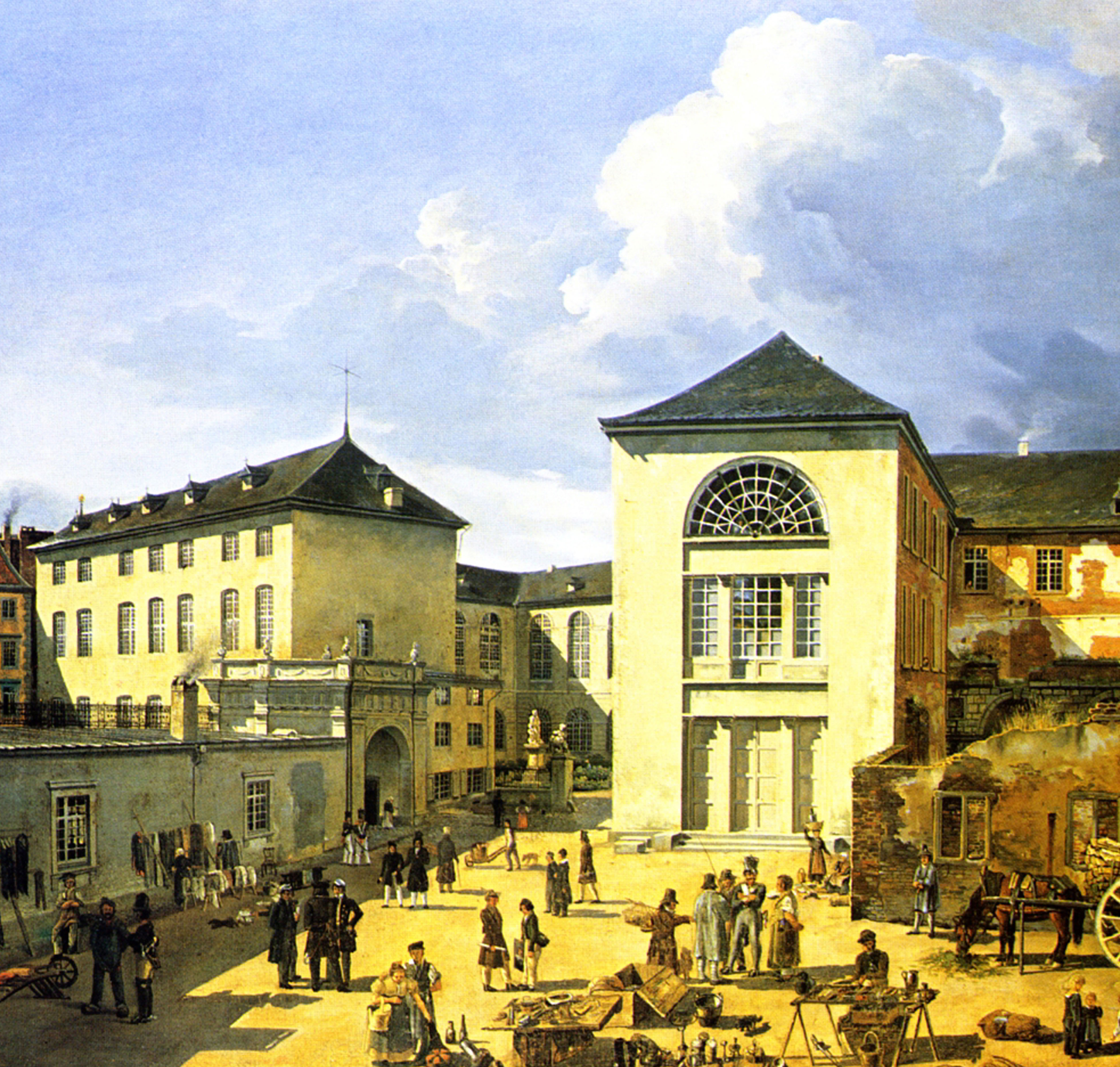 Painting of the Kunstpalast Museum in Dusseldorf