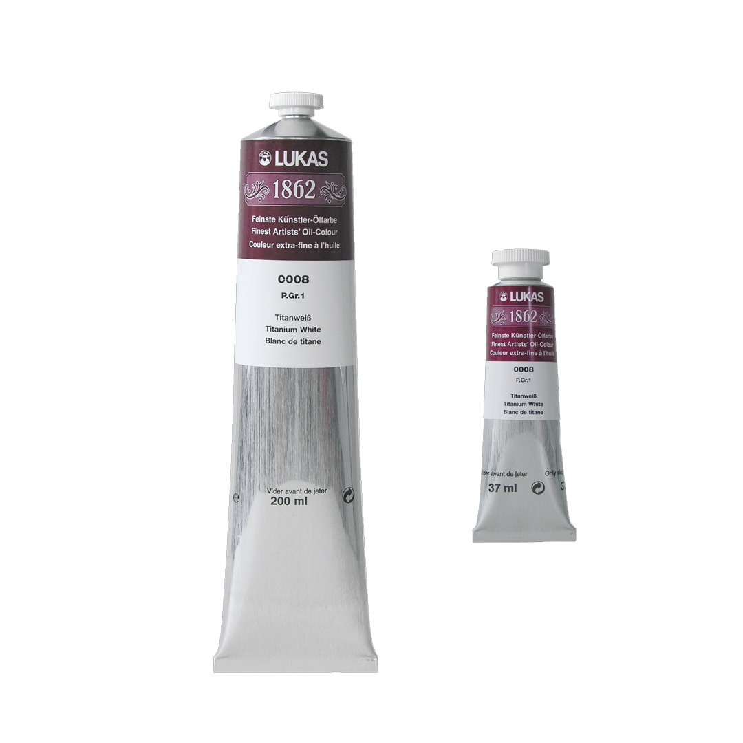 Lukas 1862 Oil 37ml and 200ml tubes side